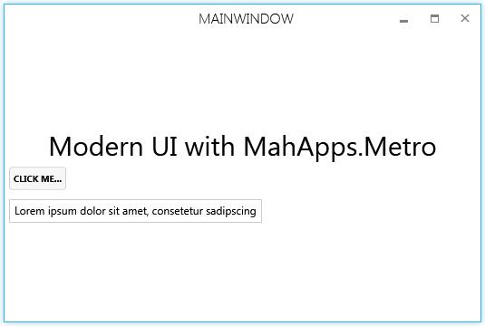 modern ui main window with clean window style